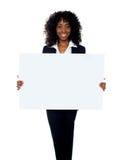 αφρικανικός πίνακας διαφημίσεων εμβλημάτων που εμφανίζει γυναίκα Στοκ Εικόνα