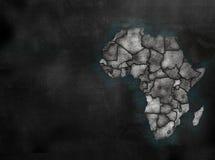 Αφρικανικός χάρτης ηπείρων της Αφρικής στο ζωηρόχρωμο ύφος πινάκων κιμωλίας με το Γ Στοκ εικόνες με δικαίωμα ελεύθερης χρήσης