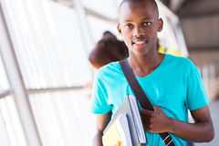 Αφρικανικό αγόρι κολλεγίων Στοκ Φωτογραφίες