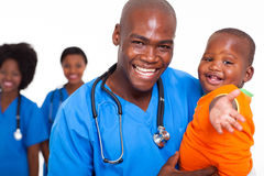 Παιδιατρικό μωρό γιατρών Στοκ φωτογραφία με δικαίωμα ελεύθερης χρήσης