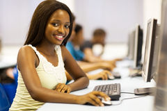 Αφρικανικό δωμάτιο υπολογιστών Στοκ Φωτογραφία