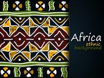 Αφρικανικό εθνικό διανυσματικό υπόβαθρο πρότυπο φυλετικό Στοκ Εικόνα