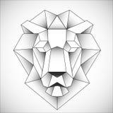 Αφρικανικό επικεφαλής εικονίδιο λιονταριών Αφηρημένο τριγωνικό ύφος Περίγραμμα για τη δερματοστιξία, το λογότυπο, το έμβλημα και  απεικόνιση αποθεμάτων
