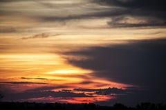 αφρικανικό ηλιοβασίλεμα Στοκ φωτογραφίες με δικαίωμα ελεύθερης χρήσης