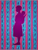Αφρικανικό κορίτσι που φέρνει ένα μωρό Στοκ Εικόνες