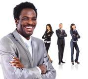 αφρικανικό λευκό επιχειρησιακών ατόμων ανασκόπησης Στοκ Εικόνα