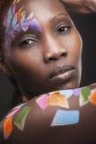 Αφρικανικό πρόσωπο Στοκ Φωτογραφίες
