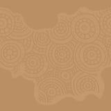 αφρικανικό πρότυπο άνευ ραφής Κυκλικές διακοσμήσεις σκίτσων Στοκ Εικόνα
