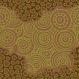 αφρικανικό πρότυπο άνευ ραφής Κυκλικές διακοσμήσεις σκίτσων Στοκ φωτογραφία με δικαίωμα ελεύθερης χρήσης