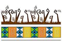αφρικανικό πρότυπο άνευ ρα Στοκ Εικόνες