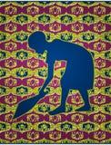 Αφρικανικό σκούπισμα κοριτσιών Στοκ εικόνα με δικαίωμα ελεύθερης χρήσης