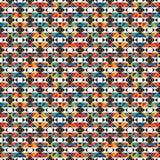 Αφρικανικό σχέδιο επιφάνειας ύφους άνευ ραφής με τους αφηρημένους αριθμούς Φωτεινή εθνική τυπωμένη ύλη γεωμετρικός διακοσμητ&iot ελεύθερη απεικόνιση δικαιώματος