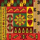 Αφρικανικό σχέδιο, άνευ ραφής Στοκ Εικόνες