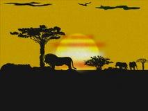αφρικανικό τοπίο Στοκ Εικόνες