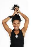 αφρικανικό τρίχωμα κοριτσ στοκ εικόνα