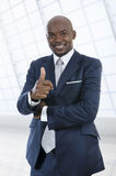 Αφρικανικό χαμόγελο επιχειρησιακών ατόμων Στοκ Εικόνες
