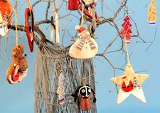 Αφρικανικό χριστουγεννιάτικο δέντρο τέχνης καλωδίων Στοκ φωτογραφία με δικαίωμα ελεύθερης χρήσης