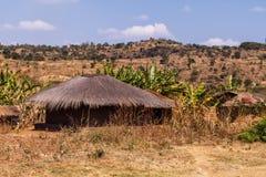 αφρικανικό χωριό Στοκ Φωτογραφία