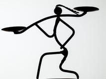 Αφρικανικό siluette στοκ εικόνες