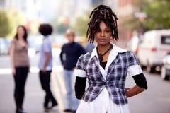 αφροαμερικάνος όμορφος Στοκ Φωτογραφίες