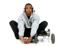 αφροαμερικάνος skateboarder Στοκ εικόνες με δικαίωμα ελεύθερης χρήσης