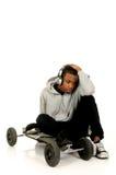 αφροαμερικάνος skateboarder Στοκ φωτογραφίες με δικαίωμα ελεύθερης χρήσης