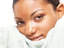 αφροαμερικανίδα ομορφι Στοκ Φωτογραφία