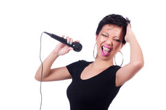 Αφροαμερικανός θηλυκός τραγουδιστής Στοκ Φωτογραφίες