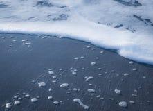 Αφρός στην αμμώδη παραλία Στοκ Εικόνα