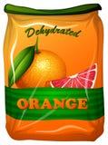 Αφυδατωμένο πορτοκάλι στην τσάντα Στοκ Εικόνα