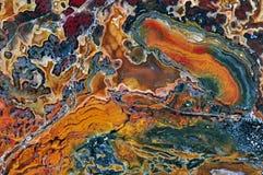 Αχάτης με τα φυσικά χρώματα Στοκ Φωτογραφίες