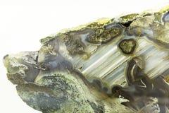 Αχάτης Onyx με calcite-στενός-επάνω Στοκ Εικόνες