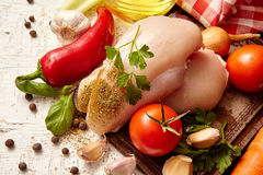 λαχανικά και κρέας, συστατικό για τη σούπα στοκ φωτογραφία
