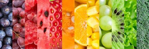 λαχανικά καρπών ανασκόπηση& Στοκ Φωτογραφίες