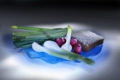 λαχανικά πιάτων Ελαφριά βούρτσα Στοκ εικόνες με δικαίωμα ελεύθερης χρήσης