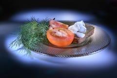 λαχανικά πιάτων Ελαφριά βούρτσα Στοκ Εικόνες
