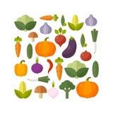 λαχανικά προϊόντων φρέσκιας αγοράς γεωργίας Έννοια διατροφής και οργανικής τροφής επίσης corel σύρετε το διάνυσμα απεικόνισης Στοκ Φωτογραφία