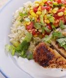 λαχανικά ρυζιού κοτόπουλου Στοκ εικόνα με δικαίωμα ελεύθερης χρήσης
