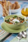 λαχανικά σούπας κοτόπουλου Στοκ εικόνες με δικαίωμα ελεύθερης χρήσης