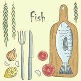λαχανικά ψαριών Στοκ εικόνες με δικαίωμα ελεύθερης χρήσης
