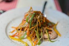 λαχανικά λωρίδων κοτόπου Στοκ εικόνα με δικαίωμα ελεύθερης χρήσης