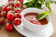 λαχανικό ντοματών σούπας κύπελλων Στοκ Φωτογραφία