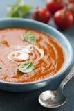 λαχανικό ντοματών σούπας κύπελλων Στοκ Εικόνα