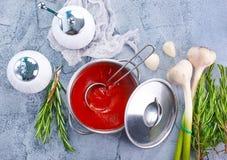 λαχανικό ντοματών σούπας κύπελλων Στοκ εικόνα με δικαίωμα ελεύθερης χρήσης