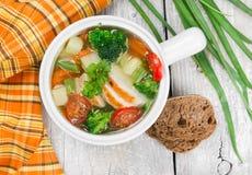 λαχανικό σούπας κοτόπου&la Στοκ Εικόνα