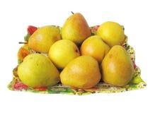 αχλάδια κίτρινα Στοκ Εικόνα