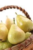 αχλάδια καλαθιών στοκ φωτογραφία με δικαίωμα ελεύθερης χρήσης