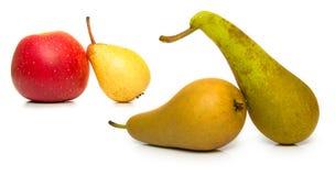 αχλάδια μήλων ώριμα Στοκ Εικόνες