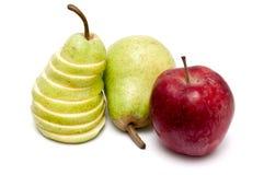 αχλάδια μήλων Στοκ Εικόνες