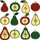 αχλάδια προτύπων καρπού μήλων Ελεύθερη απεικόνιση δικαιώματος